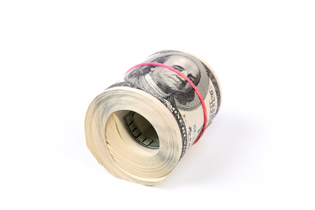 One hundred dollar bills close up, U.S. currency Stock Photo