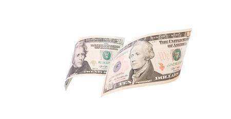 greenback: dollar bills close up, U.S. currency
