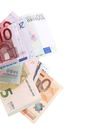european currency: Euro banknotes close up, European currency Stock Photo
