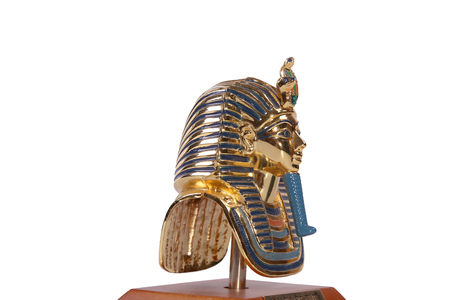 A copy of Tutankhamuns mask. These copies are for sale. Stock Photo