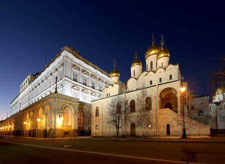 eclecticism: Inside of Moscow Kremlin at night, Russia.