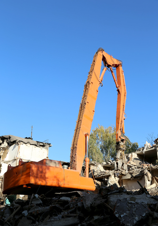 demolition old house. Moscow, Russia
