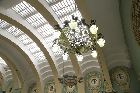 kazansky: Kazansky railway terminal ( Kazansky vokzal) -- is one of nine railway terminals in Moscow, Russia. Construction of the modern building according to the design by architect Alexey Shchusev started in 1913 and ended in 1940
