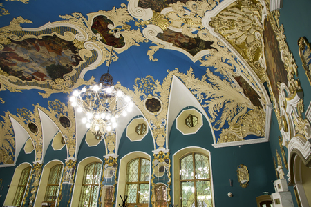 VIP-hall or a room higher comfort Kazansky railway station ( Kazansky vokzal) -- is one of nine railway terminals in Moscow, Russia. Construction of the modern building according to the design by architect Alexey Shchusev started in 1913 and ended in 1940 Editorial