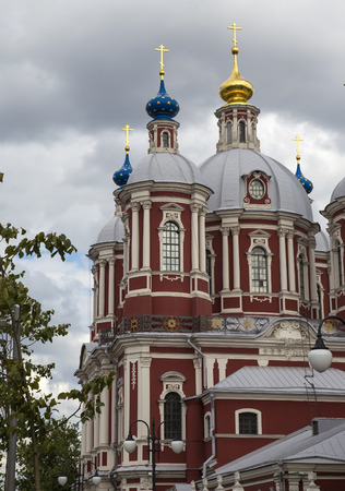 ecclesiastical: The baroque church of Saint Clement in Moscow, Russia. This large ecclesiastical complex was built in the 18th century. Stock Photo
