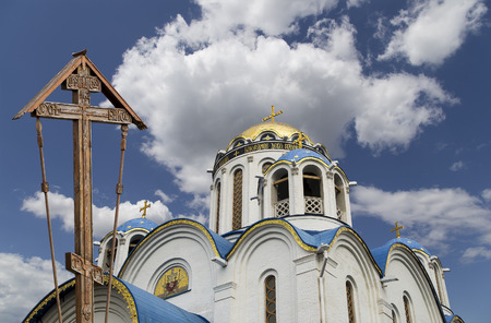 Church of the Protection of the Mother of God at Yasenevo, Moscow, Russia. The temple was founded in the 2009 year and costed on fees from donations