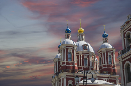 clement: The baroque church of Saint Clement in Moscow, Russia. This large ecclesiastical complex was built in the 18th century. Stock Photo