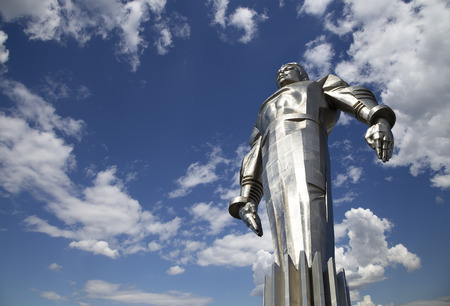 vostok: Monument to Yuri Gagarin (42.5-meter high pedestal and statue), the first person to travel in space. It is located at Leninsky Prospekt in Moscow, Russia. The pedestal is designed to be reminiscent of a rocket exhaust