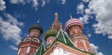 Saint Basil cathedral ( Temple of Basil the Blessed), Red Square, Moscow, Russia