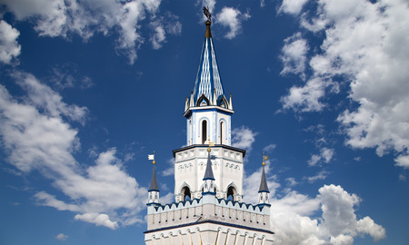 Izmailovsky Kremlin (Kremlin in Izmailovo), Moscow, Russia-- is one of the most colorful and interesting city landmarks, including museums, restaurants, fairs and markets and many other attractions