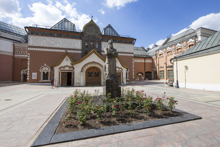 State Tretyakov Gallery is an art gallery in Moscow, Russia, the foremost depository of Russian fine art in the world. Gallerys history starts in 1856. Hall of artist V.Vasnetsov. Collection - 130,000 exhibits Editorial