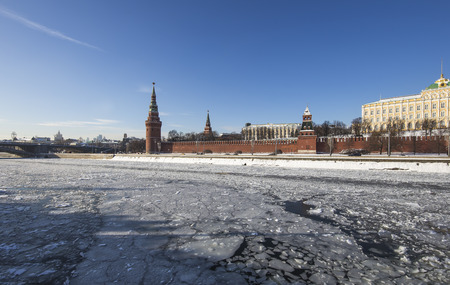 View of the Moskva River and the Kremlin, Moscow, Russia--the most popular view of Moscow