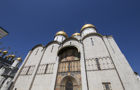 Inside of Moscow Kremlin, Russia (day).  Assumption Cathedral (Cathedral of the Dormition, Uspensky sobor)
