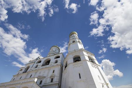 Ivan the Great Bell Tower (Kolokolnya Ivana Velikogo). Inside of Moscow Kremlin, Russia (day). Stock Photo