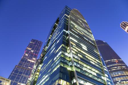 モスクワ、モスクワ国際ビジネスセンター(シティ)の超高層ビル