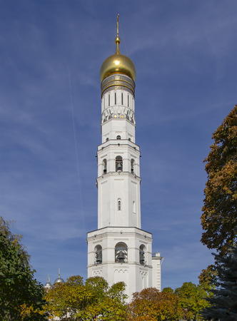 Ivan the Great Bell Tower (Kolokolnya Ivana Velikogo). Inside of Moscow Kremlin, Russia (day). 版權商用圖片