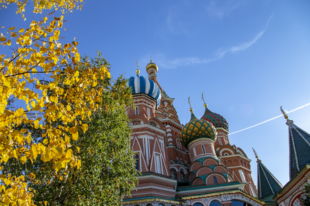 Saint Basil cathedral ( Temple of Basil the Blessed), Red Square, Moscow, Russia 写真素材 - 121942447
