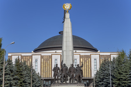 Monument to countries of anti-Hitler coalition, Alley Partisan in Victory Park on Poklonnaya hill, Moscow, Russia