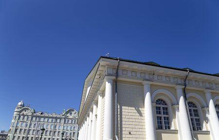 Manege (Zentrale Ausstellungshalle Manege) in Moskau. Russland Standard-Bild