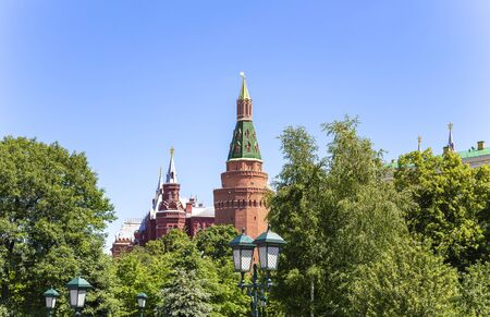 Moscow Kremlin, Russia (day). View from Alexander garden