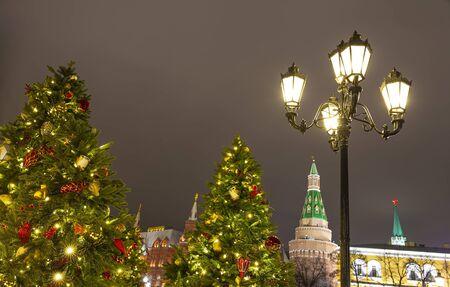 Weihnachtsdekoration in Moskau, Russland