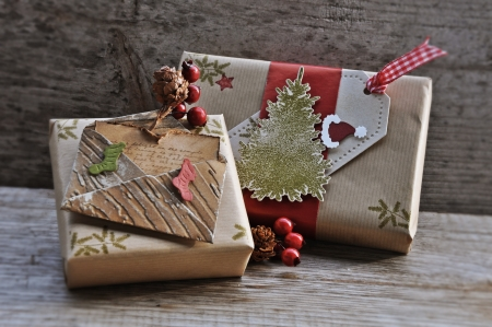 Little Christmas gifts with accessories Stock Photo - 17178551