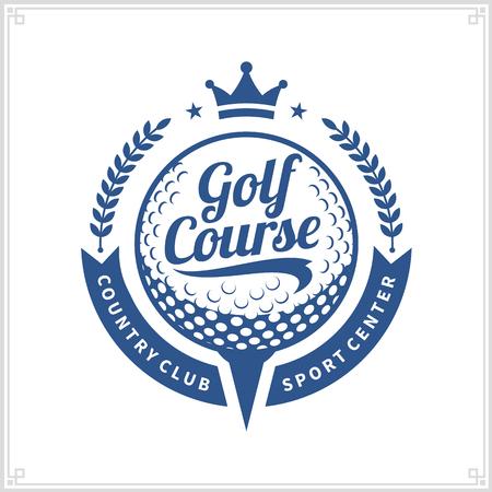 Golf club logo. Golf label with sample text.
