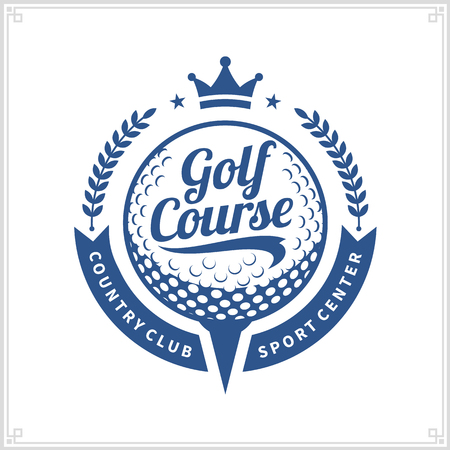 Golf club logo. Golf label with sample text.
