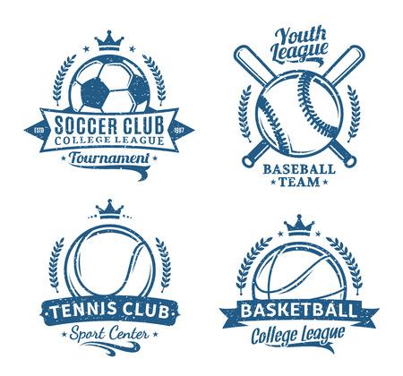 Retro styled sport team logo.
