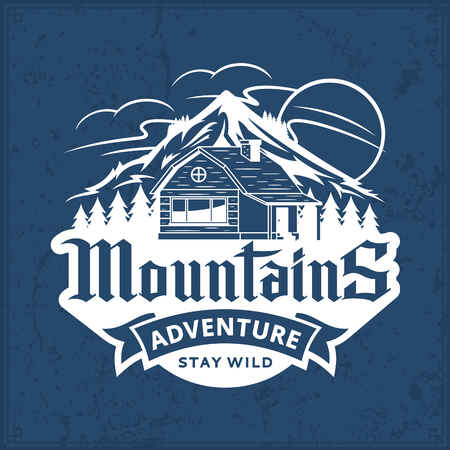Mountain and outdoor and ventures vector icon. Tourism or camping icon for tourism organizations, outdoor recreation and camping leisure.