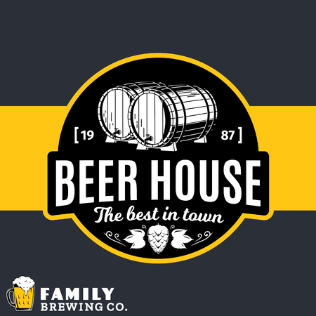 Conosciuto Vector White And Yellow Vintage Beer House Logo For Brewhouse YP95