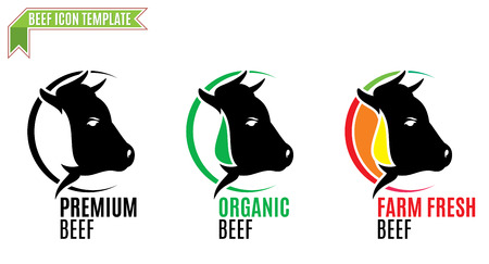 Beef logo, tade sign, icon template.