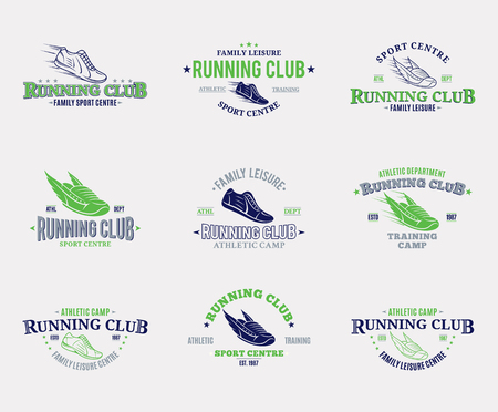 Running club logo.