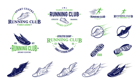 Running club logo, icons and design elements.