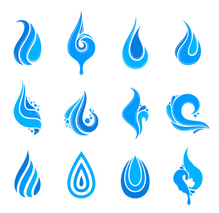Water drop icons.