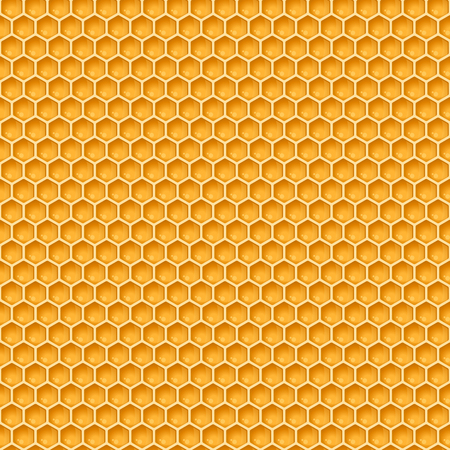 Vector honeycomb seamless pattern or background for honey product packaging, branding and identity. Illustration