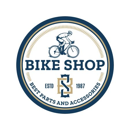 Vector bike shop, bicycle accessories and service