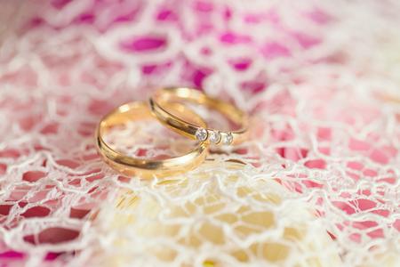aniversario de bodas: Los anillos de boda macro