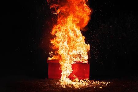 Piano on fire Reklamní fotografie