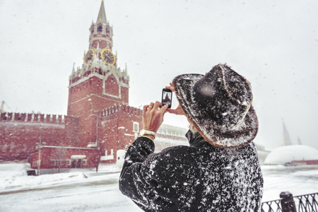 Man at the Red square