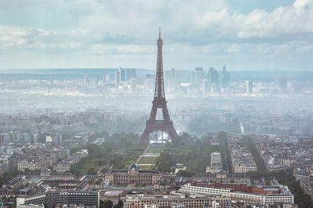Eiffel tower in fog Reklamní fotografie