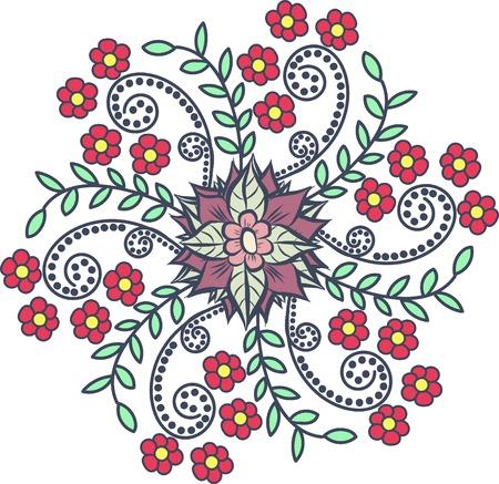 hypnotise: Round floral pattern on a light background
