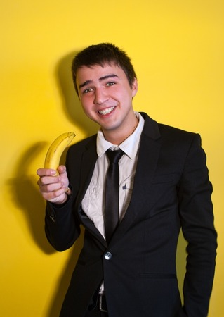 Businessman with Banana photo