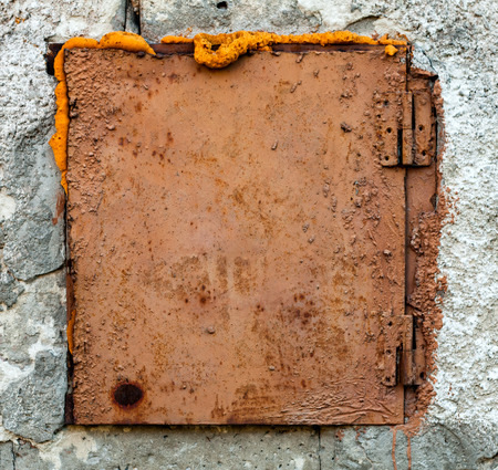 the hatch: Old Rusty Hatch on The Wall