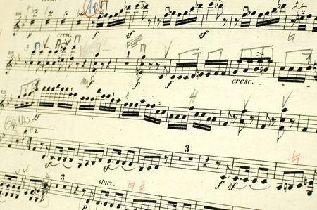 semibreve: Music Book Stock Photo