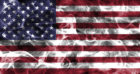 Union States of America smoke flag, US smoke flag
