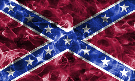 Navy Jack smoke flag, National flag of the Confederate States of America. American Civil War.confederate states