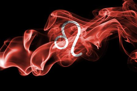 Smoky Leo zodiac astrology sign for horoscope Stock Photo