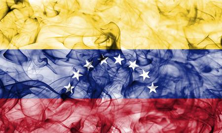Venezuela smoke flag Foto de archivo