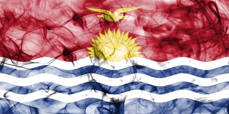 Kiribati smoke flag Stock Photo
